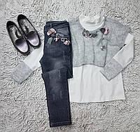 Свитера джинсы регланы для девочек купить