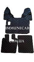 Автомобильные ковры экокожа DAF 105 механика чёрного цвета