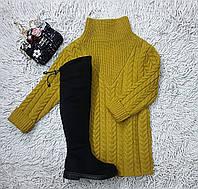 Свитера туники вязаная одежда для девочек, фото 1