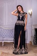 Женское шикарное  платье из дорогой сетки с вышивкой