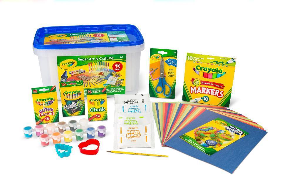 Crayola Супер набор для творчества 75 предметов в боксе синий Super Art and Craft Kit