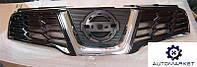 Решетка радиатора черная (с хромированной накладкой) Nissan Qashqai 2010-2014 (J10)