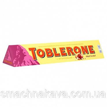 Молочный шоколад Toblerone с медом, изюмом, нугой 100 gr