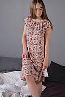 Сорочка женская ночная короткий рукав свободного покроя  из вискозы