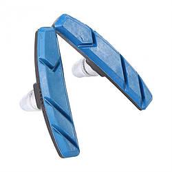 Колодки тормозные велосипедные Shuangjie T-640 синие