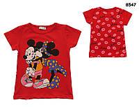 Футболка Minnie&Mickey Mouse для девочки. 1-2;  3-4;  5-6;  7-8 лет