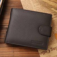 Кожаный коричневый мужской кошелек портмоне Jinbaolai