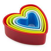 Набор резаков для печенья Сердца 5 шт (3,5-10см)