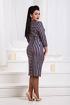 ДР1562 Платье ангоровое в полоску размеры 50-56, фото 2