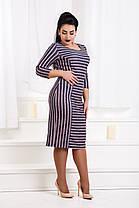 ДР1562 Платье ангоровое в полоску размеры 50-56, фото 3