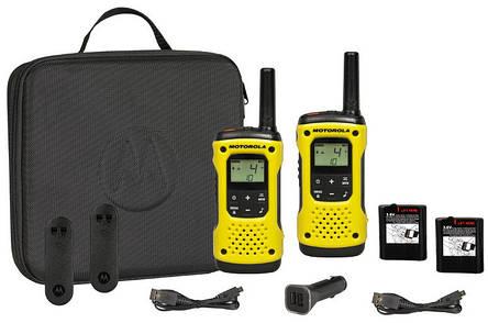 Портативная водонепроницаемая рация Motorola TLKR T92 H2O Yellow - 2 шт, фото 2