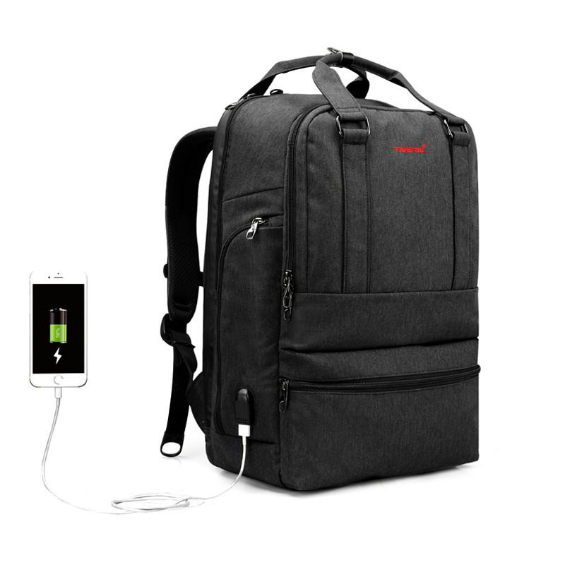 Рюкзак Tigernu  T-B 3243 Black grey USB