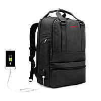 Рюкзак Tigernu  T-B 3243 Black grey USB , фото 1
