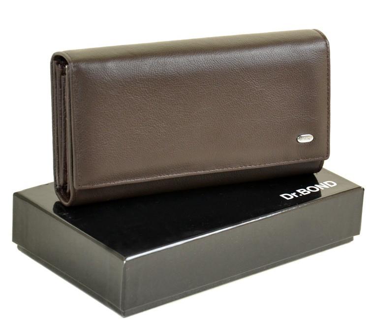 bb2fa5abd674 Женский кожаный кошелек DR. BOND Classik W34-1 coffee кожаные кошельки  оптом Одесса 7