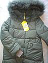 Пальто детское зимнее на девочку на тинсулейте размеры 128- 140 Энди Фисташка, фото 3