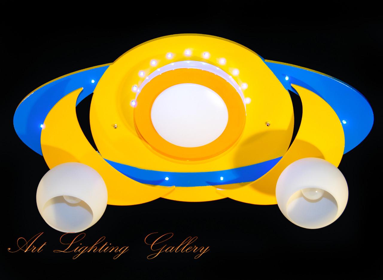 Детская припотолочная люстра желтого цвета 8344