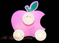 Детская люстра розового цвета 8365