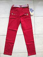 Цветные брюки-джинсы на мальчика 9-12 лет красный, фото 1