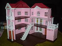 Дом 3-х этажный 1513, розовый, Happy family аналог Sylvanian Families