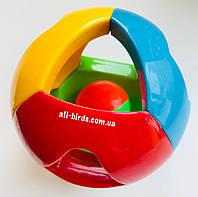 Игрушка для больших попугаев «мячик-погремушка» 8см, фото 1