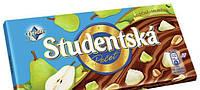 """Шоколад Studentska  """"ГРУША"""" молочный с арахисом и кусочками желе"""
