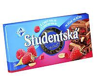 """Шоколад Studentska """"МАЛИНА"""" молочный с арахисом и кусочками желе, 180 г"""