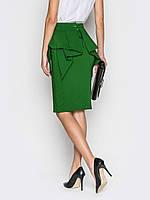 Модная юбка карандаш с баской