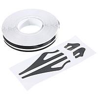 1 / 2-дюймовый штифт чередование полос виниловая лента наклейки наклейки 12мм для автомобилей мотоциклов
