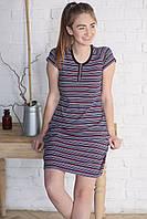 Женское домашнее платье короткий рукав из хлопкового трикотажа