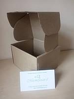 Подарочная коробка крафт картонная 120 x 100 x 80 мм самосборная