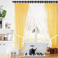 Красивый комплект штор для кухни
