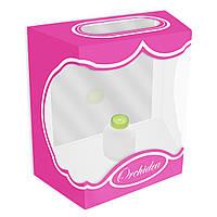 Декоративная коробка для орхидей 17 см розовая