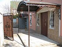 Козырек кованый с навесом, фото 1