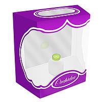 Декоративная коробка для орхидей 17 см фиолетовая