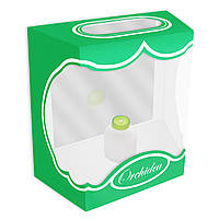 Декоративная коробка для орхидей 17 см зеленая