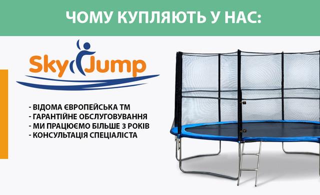 14299f2777d302 Батут SkyJump 13 фт., 404 см. с защитной соткой и лестницей: продажа ...