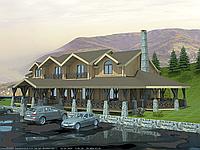 Строительство ресторана, Отельно-ресторанный комплекс Крымская жемчужина 670м2