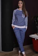 Пижама-домашний костюм для женщин с длинным рукавом