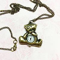 Часы декоративные Мишка  метал 35*35мм