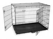 Клетка для собак Papillon, 2 двері, чорна  (76 x 53 x 60 см)