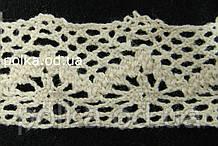 Вязаное кружево -ширина 3см,цвет бежевый (1уп-45м)