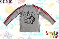 Реглан для мальчика трикотажный р.122,128,140,146,152 SmleTime  Спортсмен, серый