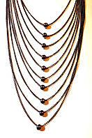 Длинное украшение на шею, красивые нити