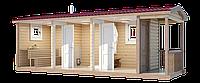 Баня деревянная мобильная 6х2,35, фото 1