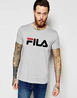 Футболка серая топ Fila logo | Стильная, фото 1