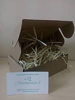 Крафт коробка с наполнителем для упаковки 150 х 100 х 50 мм, для пряника, косметики, подарка, сувенира