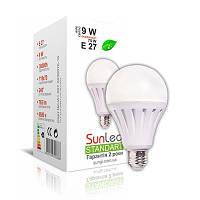 Світлодіодна LED лампа SunLed Standart 9W E27 4100K тип А65 765Лм