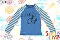 Реглан для мальчика с принтом р.122,128,134,140,146,152 SmleTime Спортсмен, бирюзовый