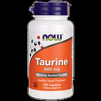 Таурин / Taurine, 500 мг 100 капсул