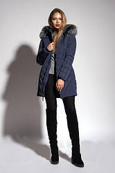 Зимнее женское молодежное пальто. Зимняя женская парка с мехом чернобурки.  Р. 50, 52, 54, 56.